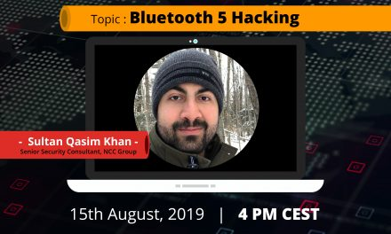 Webinar: Bluetooth 5 Hacking by Sultan Qasim Khan