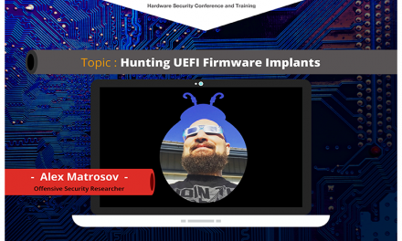 Webinar: Hunting UEFI Firmware Implants by Alex Matrosov